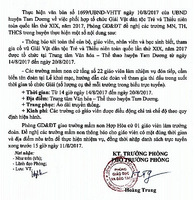So GD&DT Vinh Phuc noi gi ve dieu dong giao vien cho giai vat dan toc? hinh anh 1