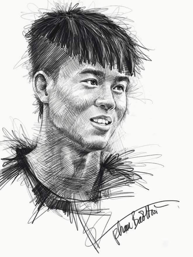 HLV Park Hang-seo va toan doi U23 Viet Nam song dong qua tranh ve hinh anh 2