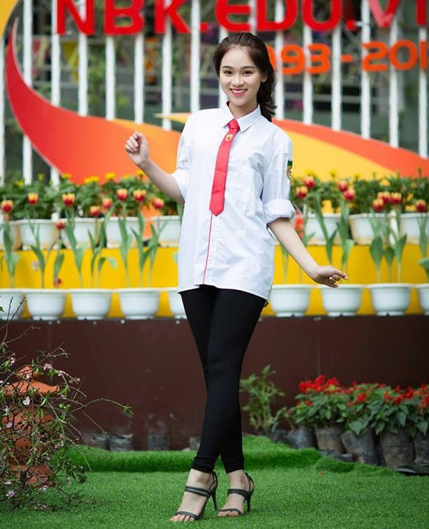 hoc sinh truong THPT Nguyen Binh Khiem anh 8