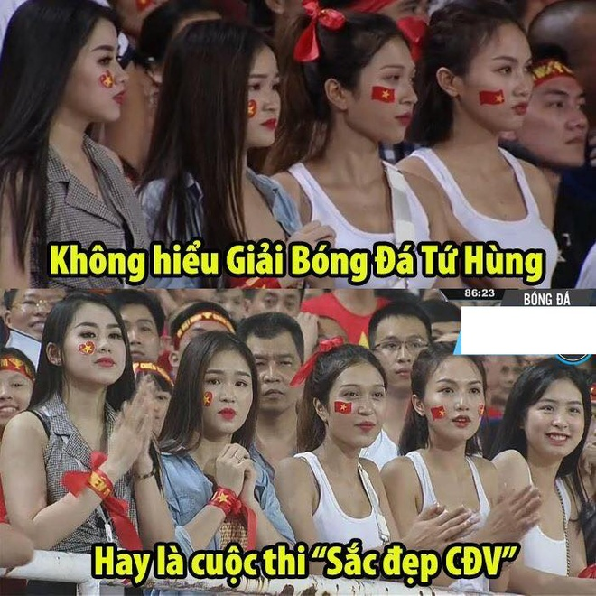 Dan hot girl World Cup bi nem da khi di co vu doi Olympic Viet Nam