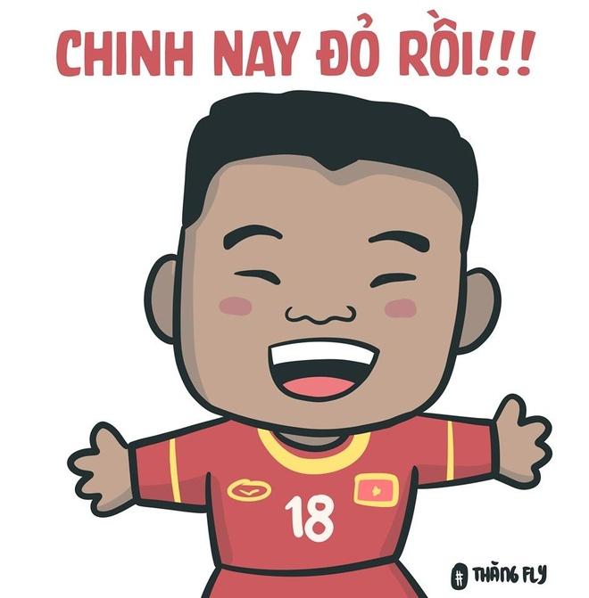 Anh che Duc Chinh 'da khong con den' sau tran thang U23 Thai Lan 4-0 hinh anh 4