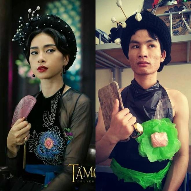 Cosplay tu Son Tung M-TP den Hoang Thuy Linh 'phien ban loi' hinh anh 5 87019699_2583552145223323_3714632367231467520_n.jpg