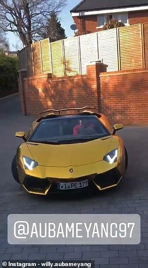 Sieu tien dao Arsenal khoe Lamborghini Aventador ma vang hinh anh 1