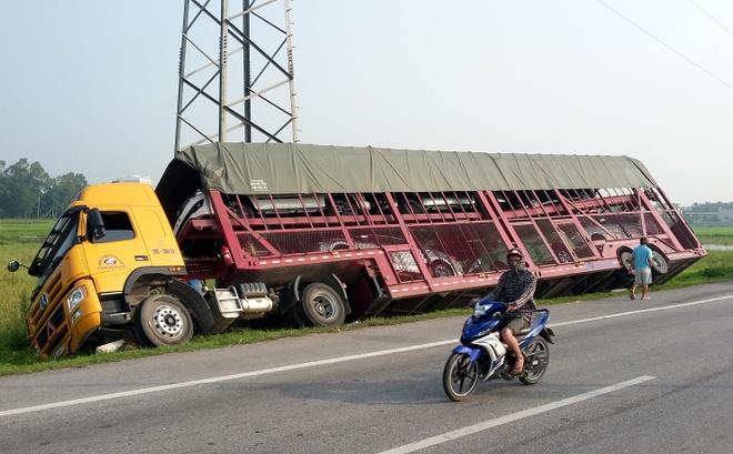 Hiện trường vụ tai nạn. Ảnh: Nguyễn Dương.