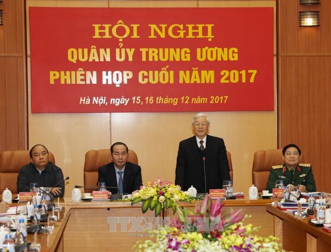 Tong bi thu Nguyen Phu Trong chu tri Hoi nghi Quan uy Trung uong hinh anh 1