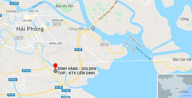 Nha xuong 1.000 m2 o Hai Phong chay rui rong dem hinh anh 2 map_haiphong_dinhvang.jpg