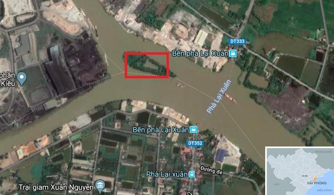 Phat hien 13 coc go giua long song, nghi cua tran Bach Dang nam 1288 hinh anh 1 map_haiphong_baicoc.jpg