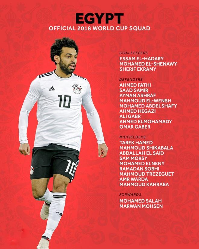 32 doi chot danh sach du World Cup 2018: Salah van gop mat, Sane o nha hinh anh 3