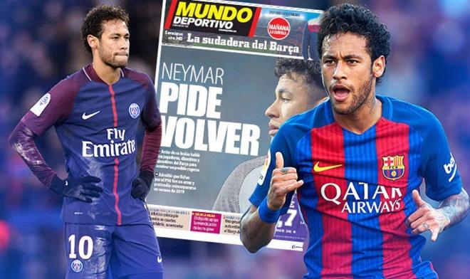 Neymar van xin de duoc tro lai Barcelona hinh anh
