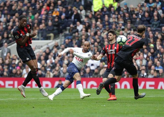 Lucas Moura lap hat-trick giup Tottenham de bep Huddersfield 4-0 hinh anh 1
