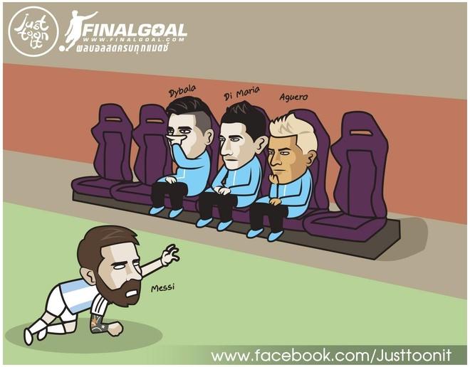 Hi hoa Messi cau cuu thay Park de thang Qatar o Copa America hinh anh 2