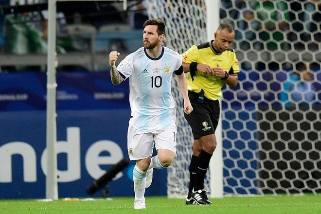 Messi ghi ban, Argentina co diem dau tien tai Copa America hinh anh 1