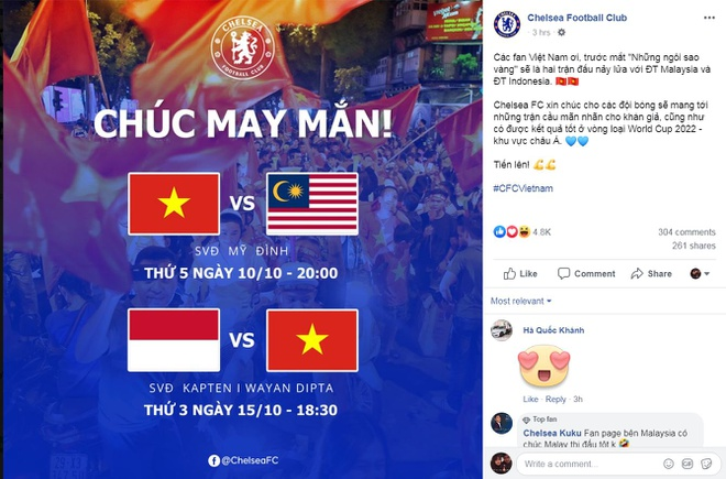 CDV vui mung khi Chelsea chuc tuyen Viet Nam chien thang hinh anh 1