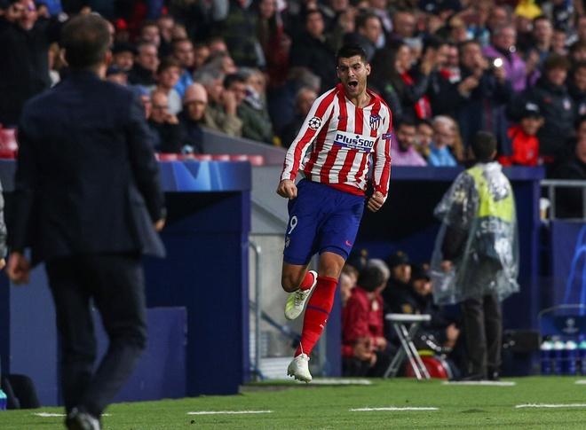 Morata lap thanh tich ghi ban cho Real va Atletico o Champions League hinh anh 1