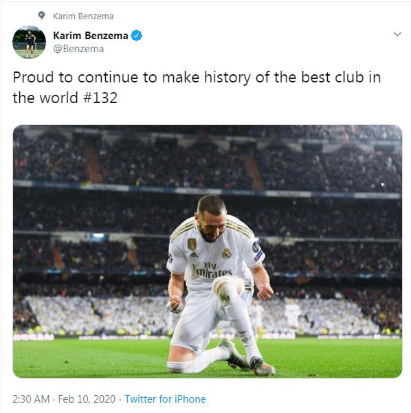 Vuot Ronaldo, Benzema lap ky luc kho tin tai Real Madrid hinh anh 1 Capture.JPG