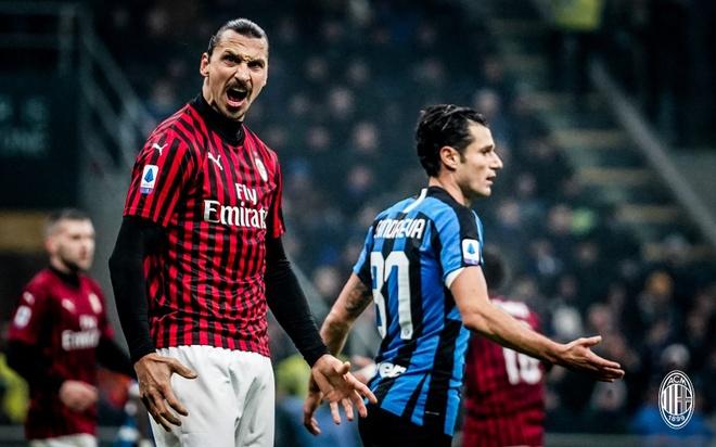 Ghi 4 ban trong hiep 2, Inter thang nguoc Milan de qua mat Juve hinh anh 1 ibra.jpg