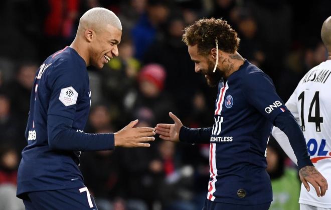 Hai ty euro co giup PSG qua mat duoc Dortmund? hinh anh 2 Kylian_Mbappe_and_Neymar_PSG_vs_Amiens_Ligue_1_2019_1.jpg
