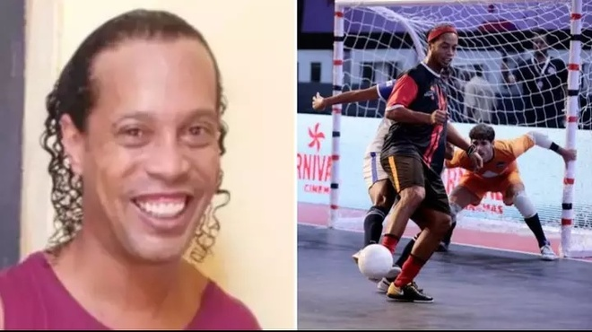 Ronaldinho sap duoc xem giai futsal tai nha tu o Paraguay hinh anh 1 Untitled.jpg