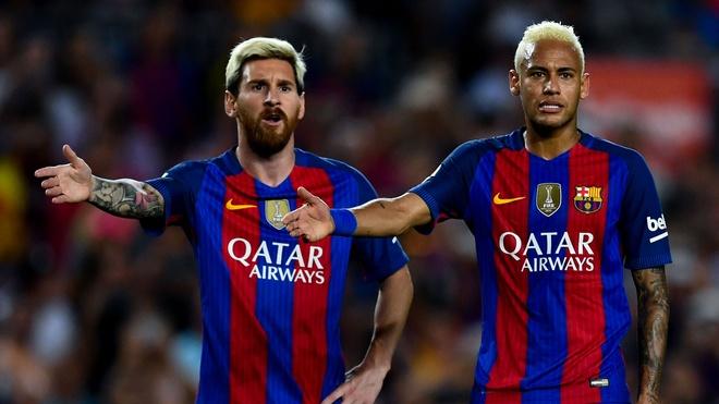 Neymar và Messi là đồng đội thân thiết khi còn khoác áo Barca. Ảnh: Getty.