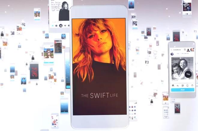 Taylor Swift ra mat ung dung danh cho fan hinh anh