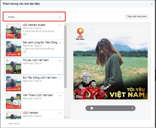Thay avatar Facebook de co vu doi tuyen U23 Viet Nam hinh anh 8