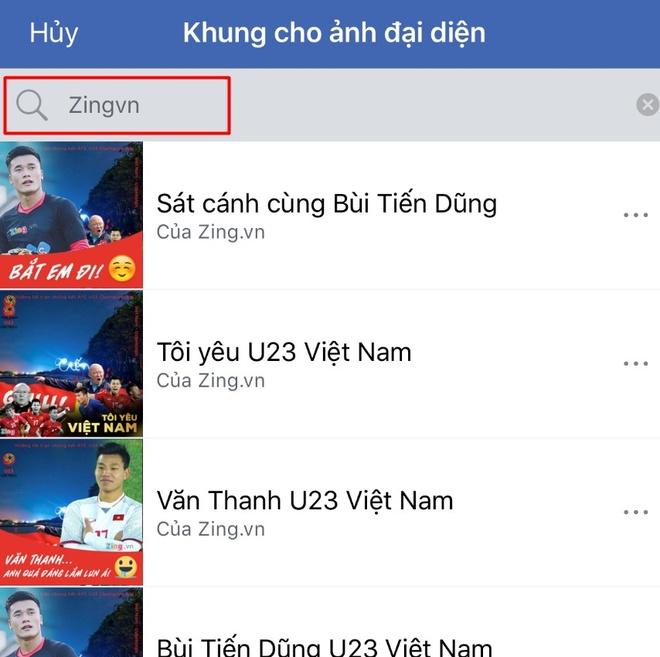 Thay avatar Facebook de co vu doi tuyen U23 Viet Nam hinh anh 3