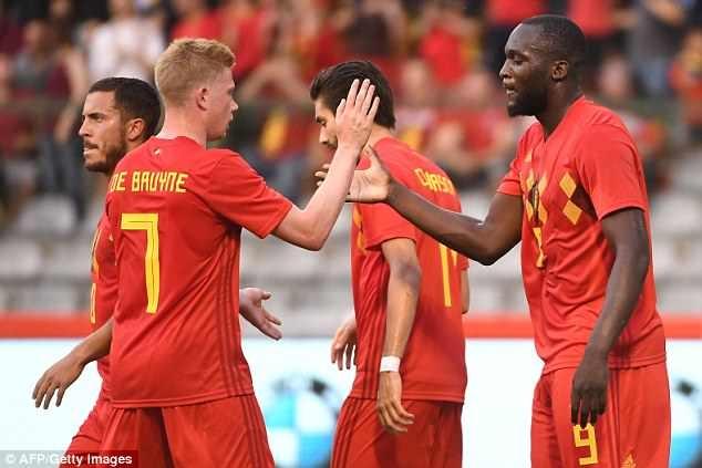 Lukaku, Hazard va Fellaini giup DT Bi thang Ai Cap 3-0 truoc World Cup hinh anh 1