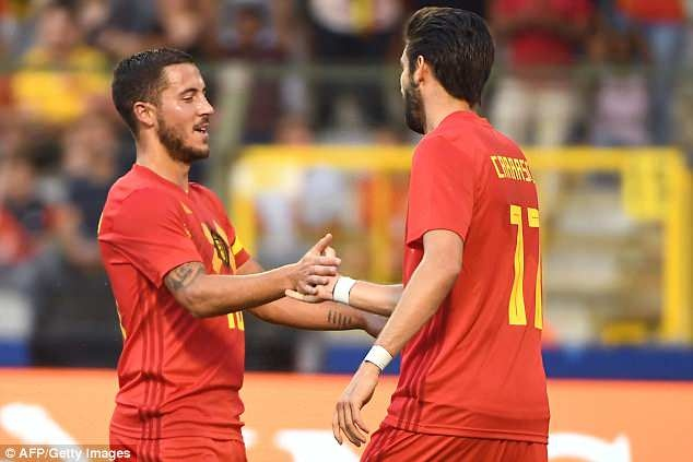 Lukaku, Hazard va Fellaini giup DT Bi thang Ai Cap 3-0 truoc World Cup hinh anh 5