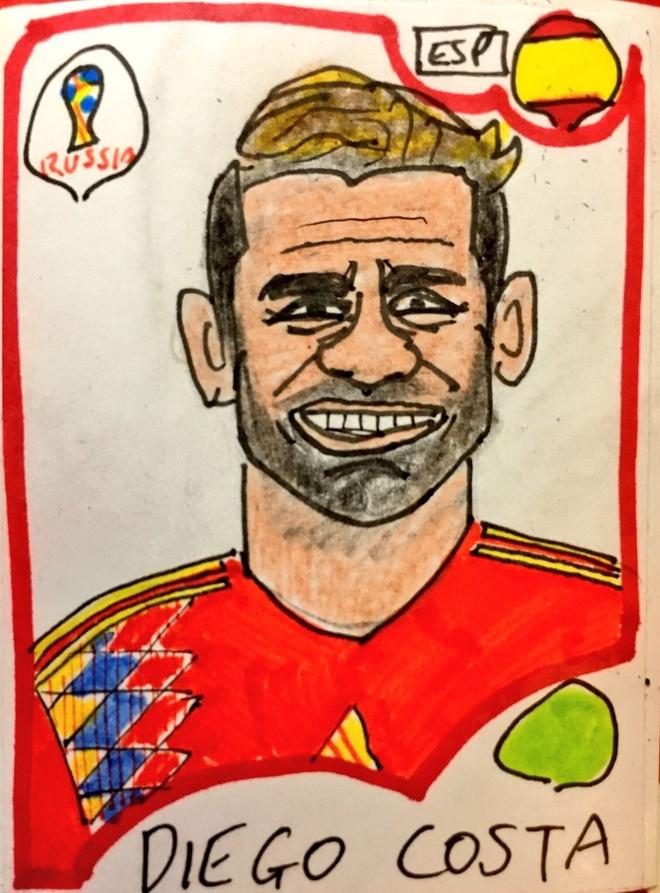Loat tranh ve xau dien dao cua cac tuyen thu World Cup,  Messi,  Ronaldo,  Salah anh 14