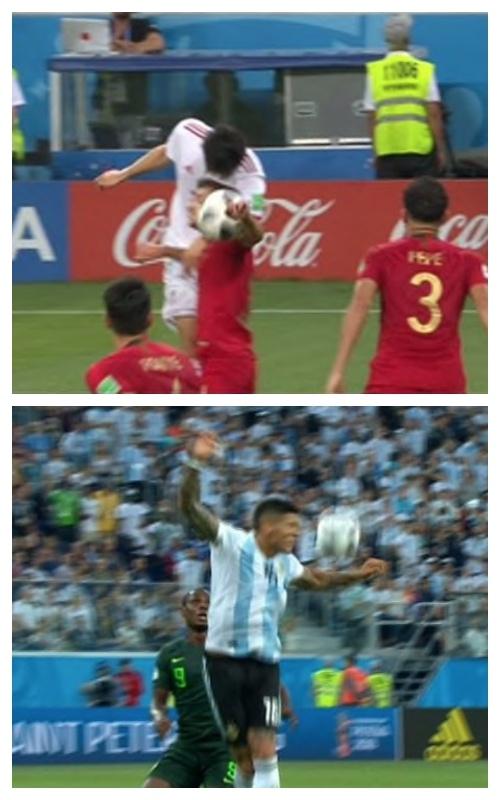 Bung no tranh cai sau 2 pha bong cham tay cua Bo Dao Nha va Argentina hinh anh 1