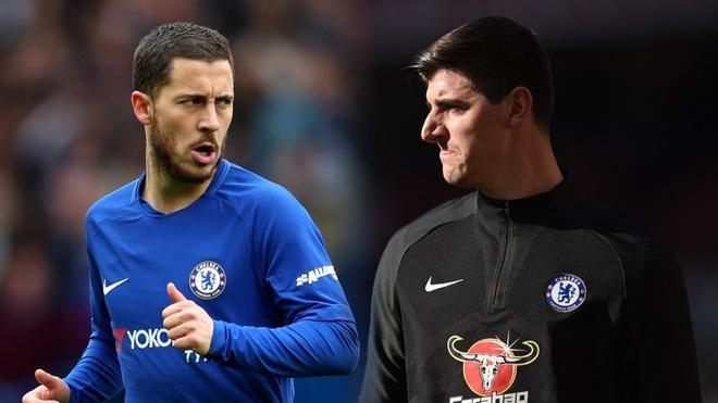 HLV Sarri tu tin Hazard va Courtois se o lai Chelsea hinh anh