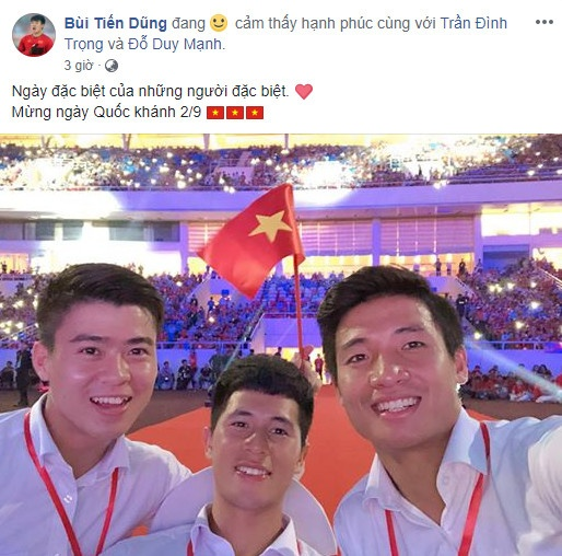 Van Toan, Duc Chinh cuoi rang ro trong le mung cong o My Dinh hinh anh 4