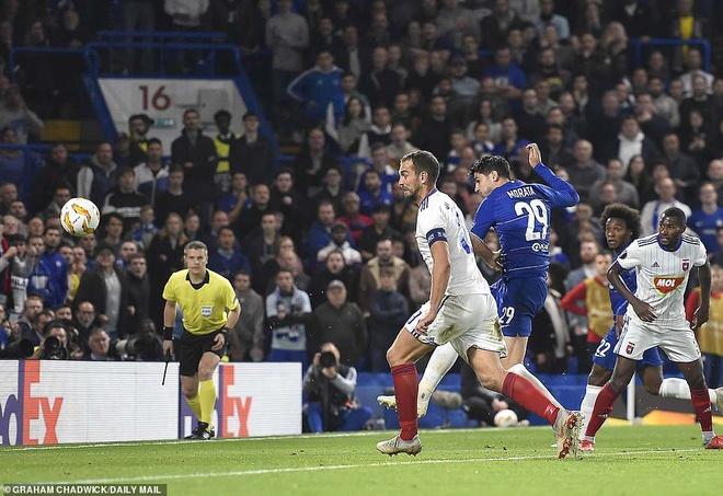 Morata ghi bàn sau 14 cú sút, Chelsea dẫn đầu bảng ở Europa League