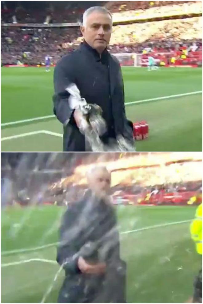 Mourinho phun nuoc vao may quay truoc tran dau voi Newcastle hinh anh 1