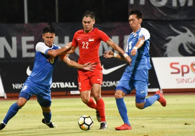 Singapore danh bai Mong Co trong tran giao huu truoc them AFF Cup hinh anh
