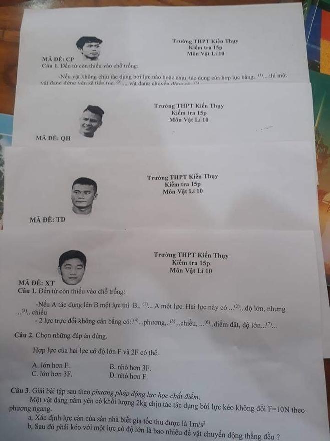 Bui Tien Dung, Xuan Truong gop mat trong de thi mon vat ly hinh anh 1