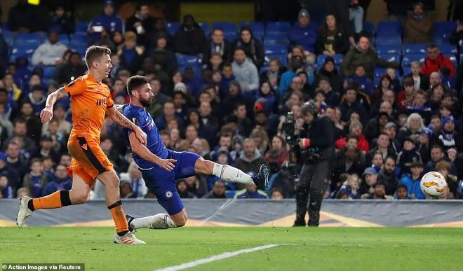 Giroud, Morata ghi ban giup Chelsea dai thang PAOK hinh anh 1