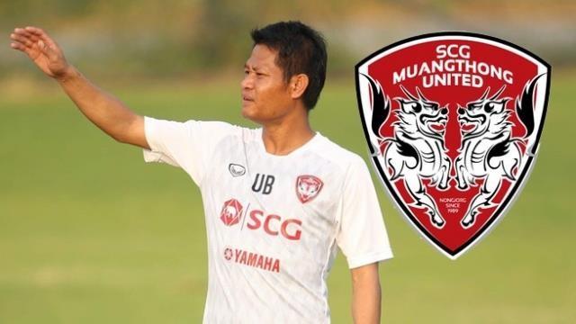 Dang Van Lam,  Muangthong United,  HLV moi,  Pairoj Bowonwattanadilok,  Uthai Boonmore anh 1