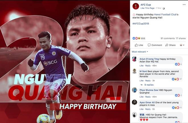 Quang Hai,  chuc mung sinh nhat,  AFC,  lien doan bong da chau A,  CLB Ha Noi anh 1