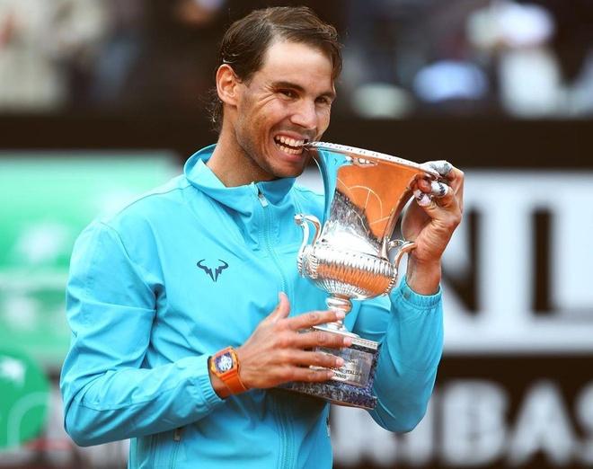 Thang Djokovic, Nadal xac lap ky luc khi vo dich Rome Masters hinh anh 1