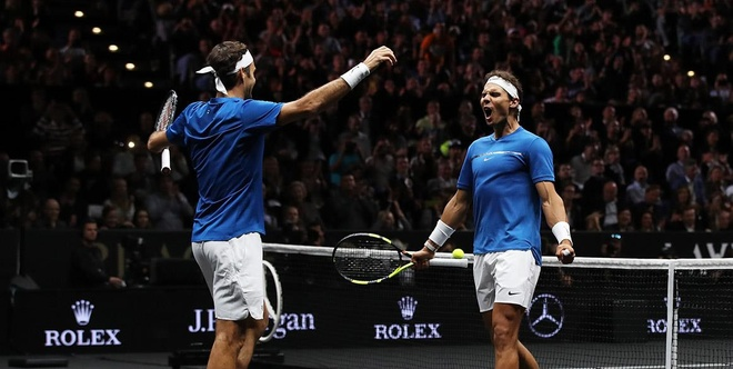 Federer va Nadal tro thanh dong doi tai Laver Cup 2019 hinh anh 1