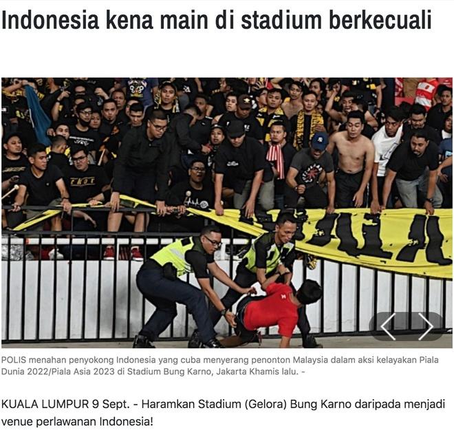 Indonesia đối diện nguy cơ phải đá sân trung lập