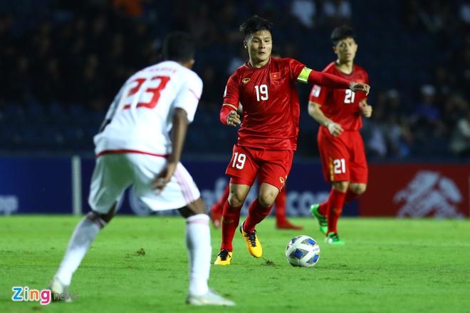 U23 Việt Nam có 1 điểm trước UAE trong trận ra quân U23 châu Á 2020. Ảnh: Minh Chiến.