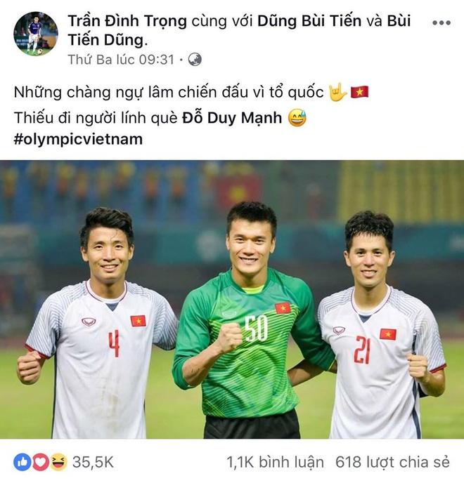 Bo ba hau ve Olympic Viet Nam 'don tim' fan voi loat anh dang yeu hinh anh 13