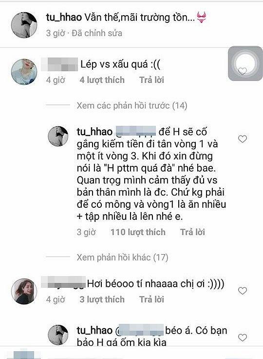 Tu Hao - hot girl dap tra 'cuc gat' truoc cac binh luan khiem nha hinh anh 4