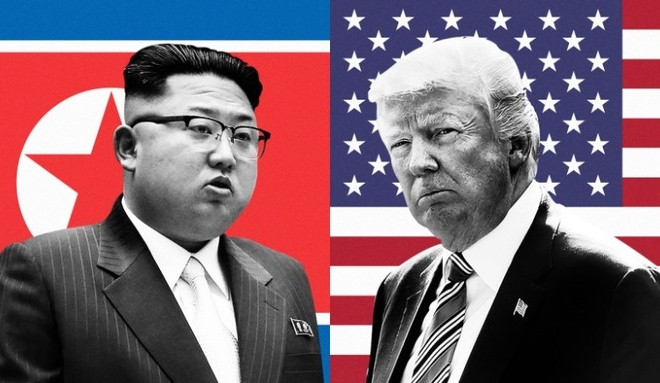 Cuoc khau chien miet thi chua hoi ket giua Trump va Kim Jong Un hinh anh