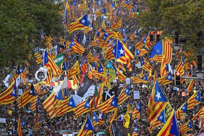 Gan nua trieu nguoi bieu tinh phan doi dinh chi chinh quyen Catalonia hinh anh