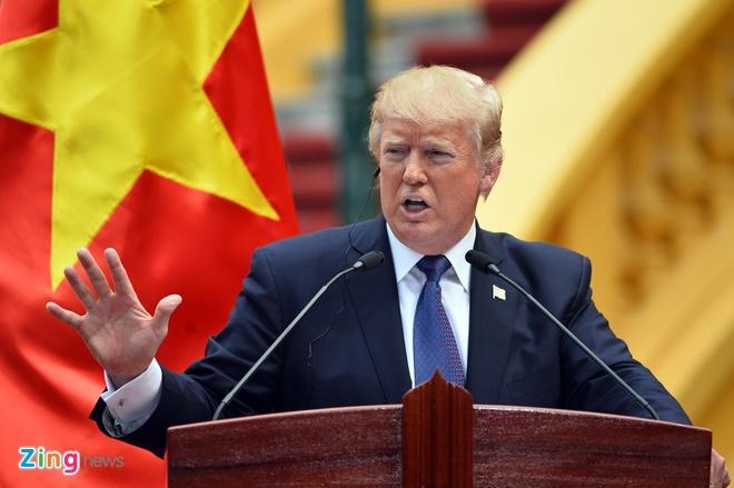 Toan van phat bieu cua Tong thong Trump tai Phu Chu tich hinh anh