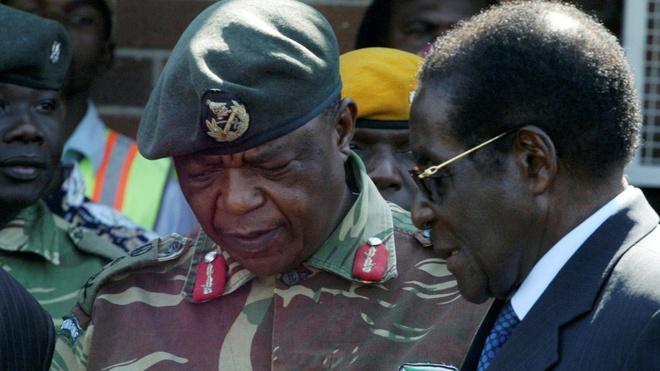 Quan doi Zimbabwe bat giu Tong thong Mugabe giua tin don dao chinh hinh anh