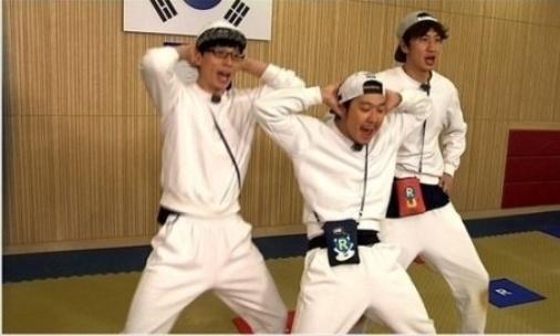 Lee Kwang Soo, HaHa, Yoo Jae Suk nhay Up & Down hinh anh